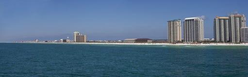 strand florida panorama- navarre Arkivbild