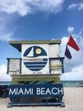 strand florida södra miami royaltyfria foton