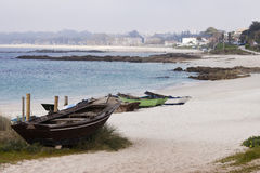 Strand Fontaiña oder Sirenita in Vigo Lizenzfreie Stockfotos
