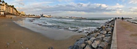 Strand-framdelen i Marbella royaltyfri bild