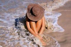 Strand-Frau stockfotografie
