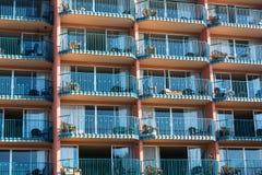 Strand Front Condo Rentals Royaltyfri Bild
