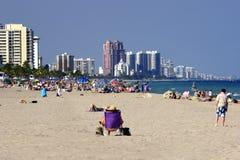 Strand Front Florida royalty-vrije stock afbeelding