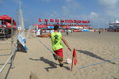 Strand-Fußball Lizenzfreies Stockbild
