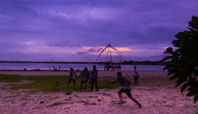 Strand-Fußballfußball Indien Lizenzfreie Stockfotografie