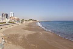 Strand in Fujairah, de V.A.E stock foto's