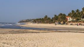 Strand in Gambia Lizenzfreie Stockfotos