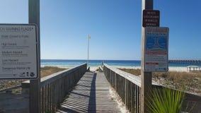 Strand-Gehweg Stockbild
