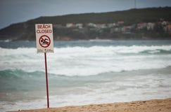 Strand geschlossen Stockfoto