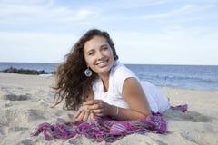 Strand-Glück Stockfoto