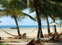 Strand in Goa Lizenzfreies Stockbild
