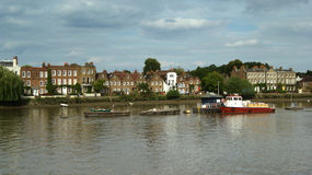 Strand-on-the-Green, Chiswick, London, England, Uk. Attractive riverside scene in London suburb Royalty Free Stock Photos