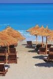 Strand in Griechenland Stockbild