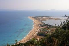 Strand in Griekenland stock foto's