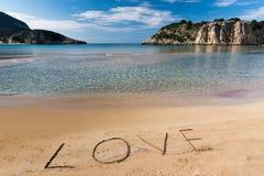 Strand in Griekenland Stock Afbeelding