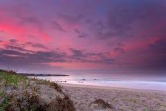 Strand gryningen av Arkivbild