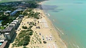 Strand Härlig färg av vatten Anapa lager videofilmer
