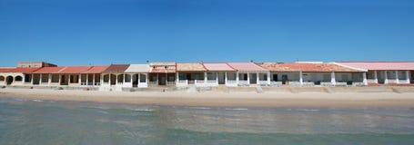 Strand-Häuser Stockbild