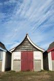 Strand-Hütte bei Mablethorpe Stockbild