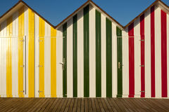 Strand-Hütten lizenzfreies stockbild
