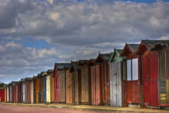 Strand-Hütten lizenzfreie stockbilder
