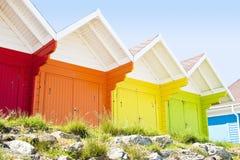 Strand-Hütten Stockfotografie