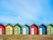 Strand-Hütten bei Blyth stockfotografie
