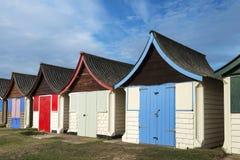 Strand-Hütten bei Mablethorpe Stockfotografie
