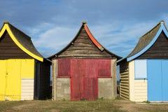 Strand-Hütten bei Mablethorpe Lizenzfreie Stockfotografie