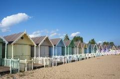 Strand-Hütten bei West-Mersea Lizenzfreie Stockfotografie
