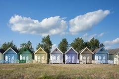 Strand-Hütten bei West-Mersea Lizenzfreies Stockfoto