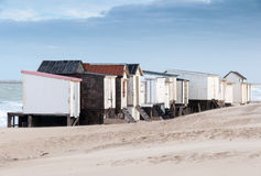 Strand-Hütten in Calais lizenzfreie stockbilder