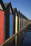 Strand-Hütten, Lowestoft Lizenzfreies Stockbild