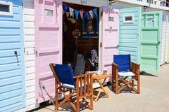 Strand-Hütten, Lyme Regis Stockfotos