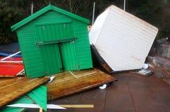 Strand-Hütten nach dem Sturm Lizenzfreie Stockfotografie