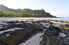 Strand Haad Farang in Mook-Insel früh morgens lizenzfreie stockfotos