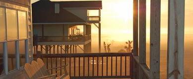 Strand-Haus-Dämmerung Lizenzfreies Stockfoto