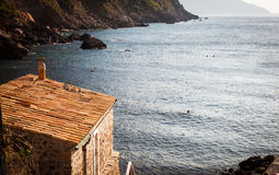 Strand-Haus, Puerto de Soller, Mallorca, Spanien Lizenzfreie Stockbilder