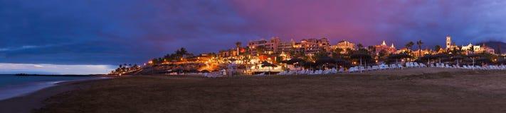 Strand in het eiland van Tenerife - Kanarie royalty-vrije stock afbeeldingen