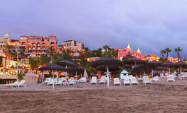 Strand in het eiland van Tenerife - Kanarie Royalty-vrije Stock Fotografie