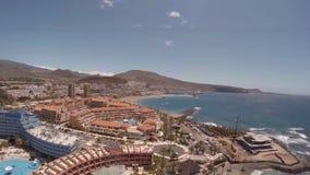 Strand in het eiland van Tenerife - Kanarie spanje stock video