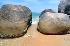 Strand in het eind van de parkwereld ` s, China, Hainan, Sania Royalty-vrije Stock Afbeelding