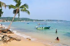 Strand in Hikkaduwa, Sri Lanka Lizenzfreies Stockbild