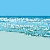 Strand-Hintergrund Stockfoto
