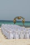 Strand-Hochzeit Stockfoto