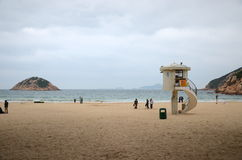 Strand Hong Kong Shek O im Winter Stockbild