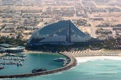 Strand-Hotel Dubai-Jumeirah stockfotos