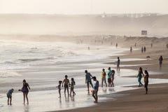 Strand in Huanchaco royalty-vrije stock foto