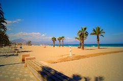 Strand i Alicanten, Spanien Arkivfoto