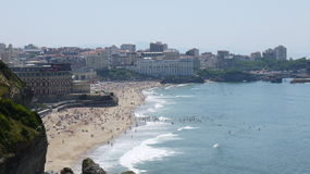 Strand i Biarritz Arkivbilder